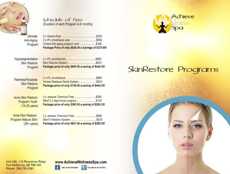 April Specials at Achieve Wellness Spa